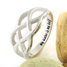 """Sisters Ring, Infinity Ring, Promise Ring for Sister """"My Sister Is My Half """" Engraved on Inside Sister Forever Rings, Best Gift for Sister"""