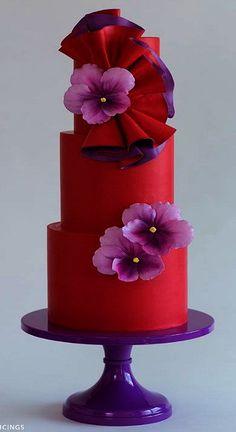 Violets Wedding Cake