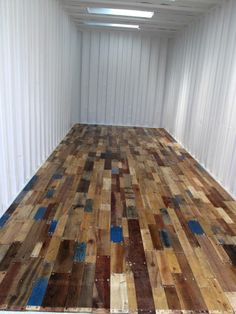 You can create this Pallet Floor with new or repurposed pallets purchased at cratesandpallet.com. The item shown above was not created by and is not claimed to be the intellectual property of cratesandpallet.com. It does, however, get us very excited about the possibilities of projects YOU can create with items purchased at cratesandpallets.com