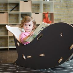 The Whale Kids Rocking Chair by Sprout Kid Furniture, is a creative piece of kids bedroom, playroom & nursery furniture
