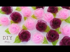 Rose of whole ribbon. Diy Lace Ribbon Flowers, Satin Ribbon Roses, Ribbon Flower Tutorial, Ribbon Art, Diy Ribbon, Ribbon Crafts, Flower Crafts, Crochet Flowers, Fabric Flowers