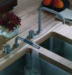 vola kitchen sink combo set a kitchen mixer with a hand shower to help clean not only the kitchen area but fill larger pots easily and effectively