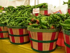 Baskets full of chile's