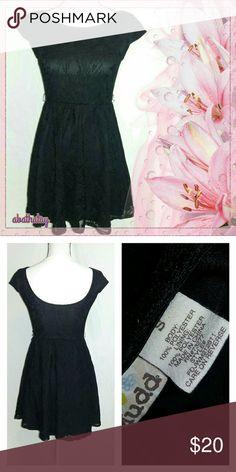 e682a1d3b4 Mudd Black Lace Fit   Flare Dress