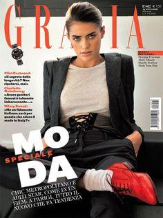 Alyson Le Borges en couverture de Grazia Italie en 2010.