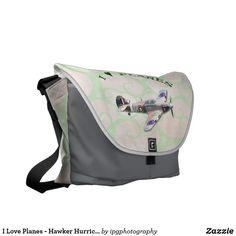 I Love Planes - Hawker Hurricane Messenger Bag #avgeek #aircraft #travel #gifts