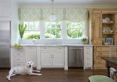 Katie Emmons Design - kitchens - Benjamin Moore - Acadia White - stainless steel fridge, counter depth fridge, counter depth refrigerator, i...