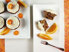 Tender Carrot Cupcakes with Citrus Cream Cheese Icing