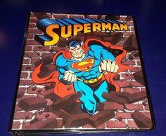 Superman 1in. Binder  | eBay
