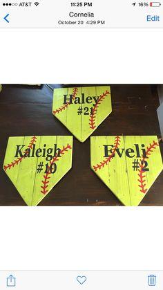 Softball sign handmade hand painted softball sign by MtnMetalWorks