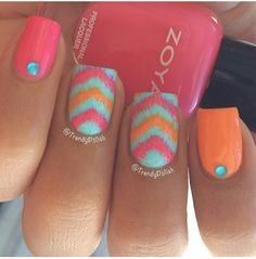 Nice CLICK.TO.SEE.MORE.eldressico.com Cute Nail Art, Love Nails, Color Nails, Pretty Nails, Get Nails, Fancy Nails, How To Do Nails, Gems, Jewels