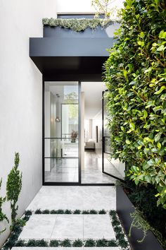 A refined inner-city sanctuary in Toorak by Skulptur Architecture and Interiors, Toorak Town Residence makes the most of a tight urban site. Steel Frame Doors, Home Design, Interior Design, Bungalow Renovation, Australian Homes, Coastal Homes, Classic House, Entry Doors, Entryway