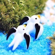 Engolir aves artificiais miniaturas de fadas jardim gnomos musgo terrários resina artesanato de presente para casa acessórios de decoração(China (Mainland))