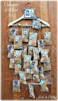 DIY advent calendar - the most beautiful ideas from simple to au .- DIY Adventskalender – die schönsten Ideen von einfach bis aufwändig Advent calendar, DIY advent calendar – the most beautiful ideas from simple to elaborate, Mission Mom - Advent Calenders, Diy Advent Calendar, Calendar Ideas, Calendar Calendar, Christmas Countdown, Christmas Art, Christmas Calendar, Christmas Tables, Nordic Christmas