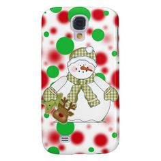 Christmas Snowman Samsung Galaxys4 Barely there ca Samsung Galaxy S4 Cover