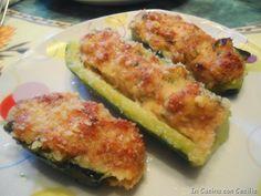 Zucchine ripiene con prosciutto e formaggio