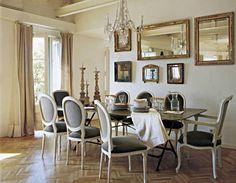paredes con espejos Mirrors, Furniture, Design, Home Decor, Decorating Dining Rooms, Mirror Walls, Home, Interiors, Houses