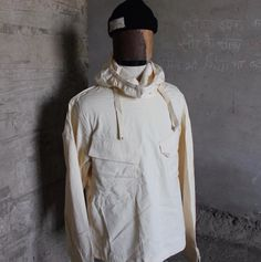 A new vintage piece for the archive, a deadstock WW2 US Navy gunner's smock. Shipped to Europe to use as snow camo during the Battle of the Bulge, but never issued. Worn with USN watch cap.