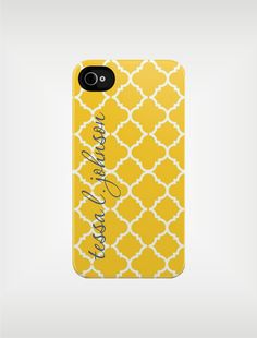 Personalized iPhone Case 4 / 4S or 3G  Yellow by adropofgoldensun, $49.99
