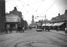 Villages like Rathmines, photographed here at the turn of the century, prospered with the flight of wealth from the city to the suburbs. Dublin Street, Dublin City, Old Pictures, Old Photos, Vintage Photos, Oldest Whiskey, Images Of Ireland, Ireland Homes, Photo Engraving