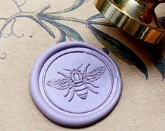 Buy 1 Get 1 Free - 1pcs Bee Gold Plated Wax Seal Stamp (WS046)