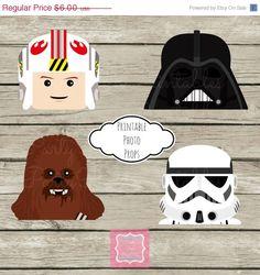 ON SALE On Sale Photo Props Instant Download Lego Star Wars Darth Vader Luke Storm Trooper Chewbacca Printables DIY