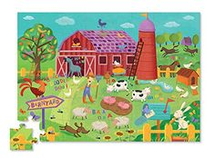 Crocodile Creek Barnyard Banter Double Fun 48 piece Jigsaw Puzzle in Barn Shaped Box * This is an Amazon Affiliate link. See this great product.