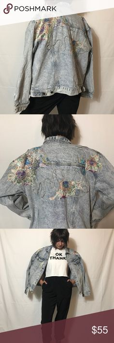 Vintage Customized Denim Jacket Super unique and amazing customized demin jacket! Covered in beads, lace, and metallic piping - this is such a rare find! Fits like a size large but is styled oversized on the model. Model is a size Small. ⭐️Not actually UNIF, just listed for exposure! UNIF Jackets & Coats