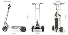 """Our Models based on unique folding system, allows to user roll it everywhere like """"trolley"""" bag, designed for personal transportation usage on daily basis. 3rd Wheel, Big And Small, Scooters, Wheels, Design, Design Comics, Vespas, Motor Scooters"""
