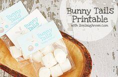 Bunny Tails Printable with LiveLaughRowe.com #Easter #bunny #printable