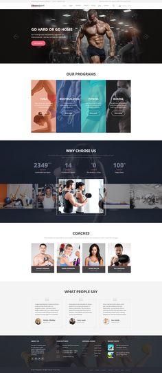 Website Template , FitnessSport