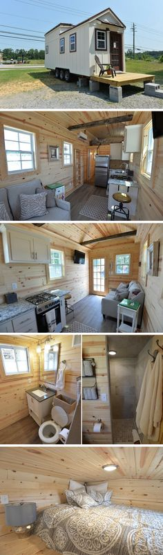 A 265 sq ft tiny house with solar panels!