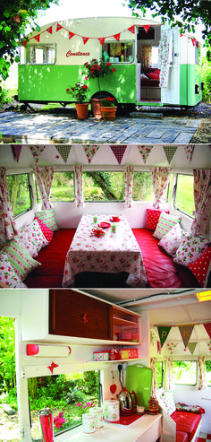 happy trails to you -- take an old fashioned caravan and dress it up to be so cheerful!