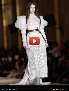 Bella Hadid braless in a see thru white lace gown at Vivienne Westwood show on Paris Fashion Week White Lace Gown, Funny Pictures Of Women, Easy Food To Make, How To Make, Got Dragons, Toddler Schedule, Luxury Watches For Men, Cool Things To Buy, Stuff To Buy