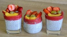Chia puding Chia Puding, No Bake Cake, Smoothie, Panna Cotta, Cheesecake, Vegan Recipes, Paleo, Food And Drink, Pudding