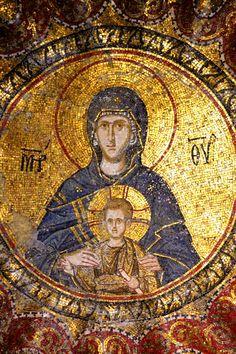 Byzantine Icons, Mona Lisa, Statue, Instagram Posts, Artwork, Cyprus, Mosaics, Image, Religion