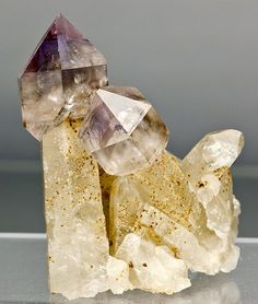 A pair of amethyst scepters from the Fat Jack Scepter mine in Crown King, Arizona.