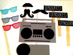 Hip Hop Photo Props Wedding Photo Booth by IttyBittyWedding, $25.00