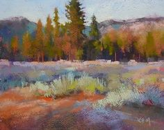 How to Paint Expressive Trees and Shrubs..NEW Pastel Demo/Tutorial, painting by artist Karen Margulis