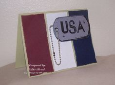 Late 4th of July card. maybe change the tag for a birthday card.