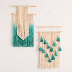 Dip dye your own fringe wall art with this DIY.