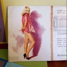 Earl Moran Pin-up Advertisement Deadstock Ink Blotters 7 card