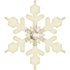 Flergs_FrostyHoliday_Snowflake6.PNG ❤ liked on Polyvore featuring snowflakes