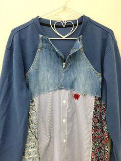 Boho Clothing XLarge Upcycled Clothing Recycled by 16October