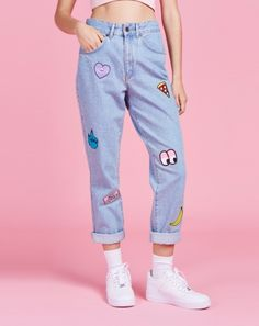 Lazy Oaf x The Ragged Priest Collection Patch Jeans http://spotpopfashion.com/wwf9