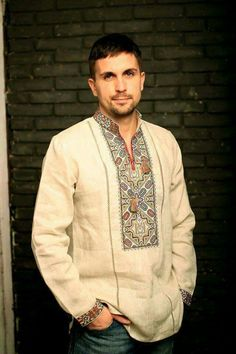 What about your beau - does he need a new vyshyvanka? Pakistani Fashion Casual, Indian Men Fashion, Folk Fashion, African Fashion, Mens Fashion, Groom Shirts, Indian Groom Wear, Mens Kurta Designs, Baggy Clothes