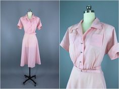 Vintage 1950s Dress / 50s Day Dress / 1950 New by ThisBlueBird