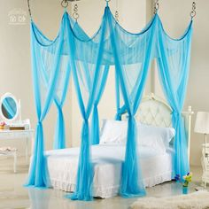 European Baroque palace landing nets hanging dome decorated Shaman princess bed mantle round bed nets - ZZKKO http://zzkko.com/n34114 $ 271.67 USD