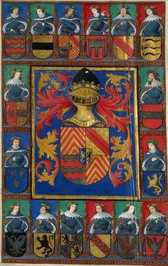 Armoiries de Georges d'Egmond, abbé de Saint-Amand (f°4v) -- Bible latine, dite Bible de Georges d'Egmond, abbé de Saint-Amand de 1526 à 1559, [BM Valenciennes, Ms. 6]