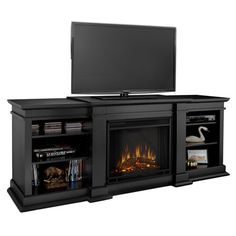 "Found it at Wayfair - Fresno 72"" TV Stand & Fireplace in Black"